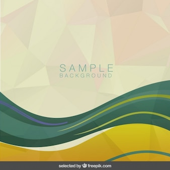 Polygonal and wavy background