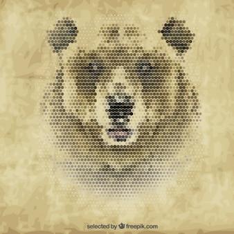 Polygonal медведь
