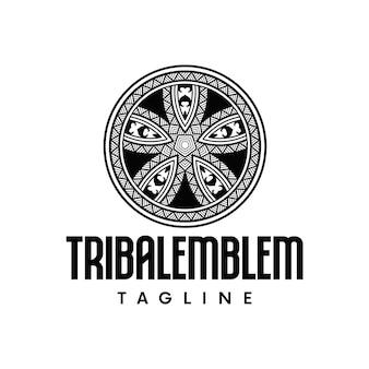 ポリネシアのエンブレムのロゴのテンプレート