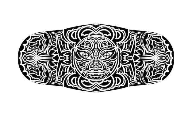 Полинезийская татуировка на запястье на предплечье с племенным рисунком. этнические орнаменты шаблона вектор.