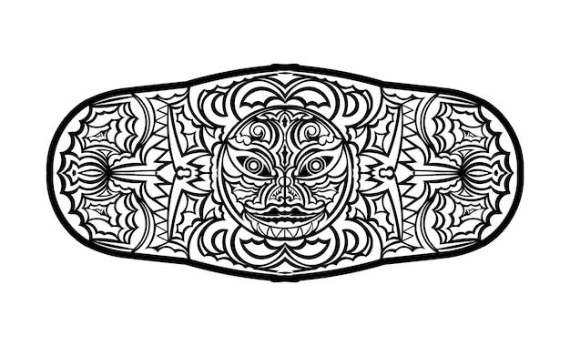 ポリネシアの入れ墨の手首の袖の部族のパターンの前腕。民族テンプレート装飾ベクトル。