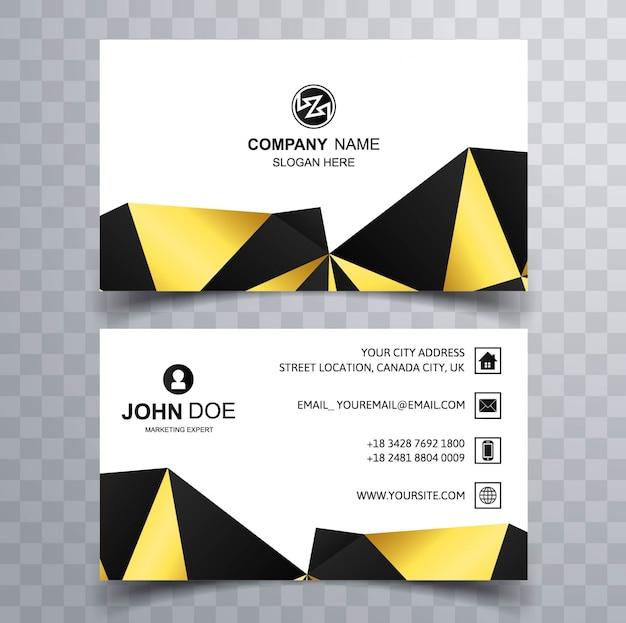Polyognal modern business card