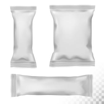 Polypropylene package on transparent background. vector illustration