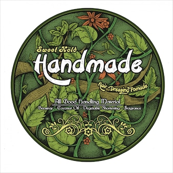 Pomade nature label ideas