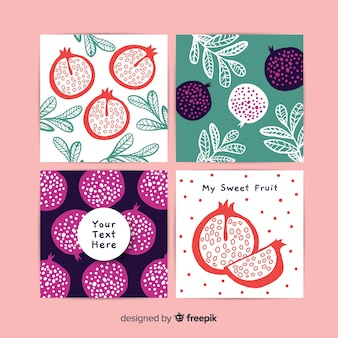 Pomegranate card collection template