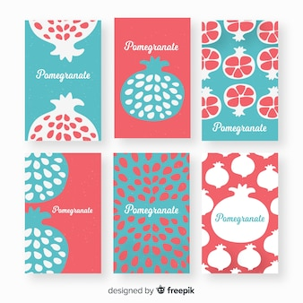 Pomegranate card collection