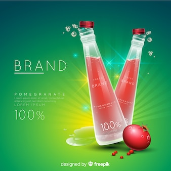 Pomegranate juice ad