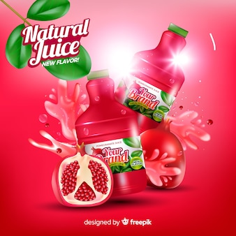 Pomegranate juice background