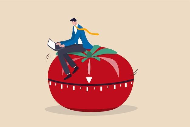 Pomodoro technique to increase work productivity