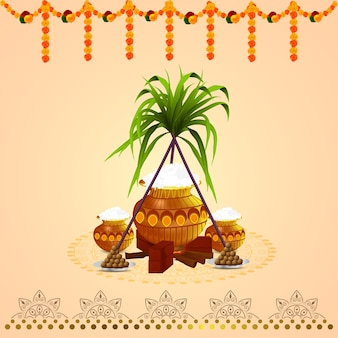 Pongal card and background