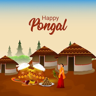 Pongal celebration creative background