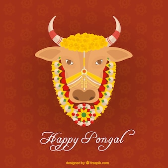 Pongal cow illustration