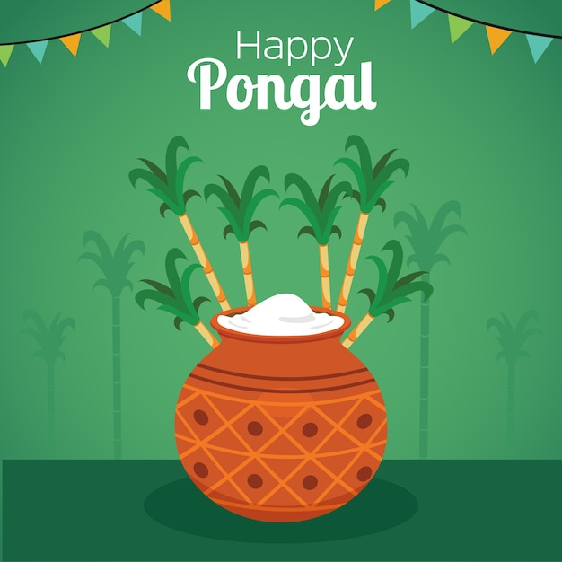 Pongal green background with a plot