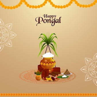 Pongal greeting card