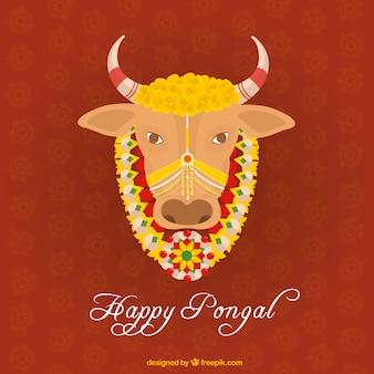 Pongal牛のイラスト