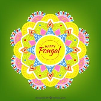 黄色の飾り幸せpongal