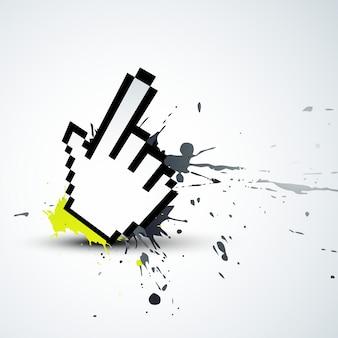 ベクトル抽象的な手マウスponter