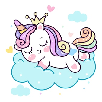 Pony  sleep on cloud