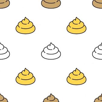 Poo seamless pattern cartoon illustration