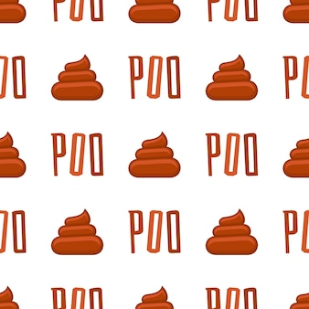Poo seamless pattern