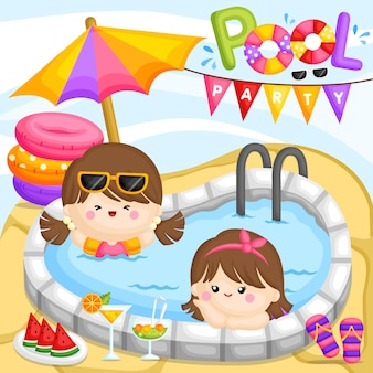 Pool party girl