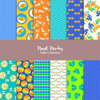 Pool party pattern collections