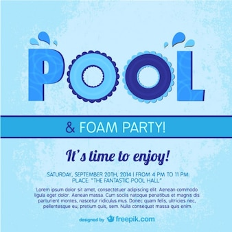 Pool party poster template