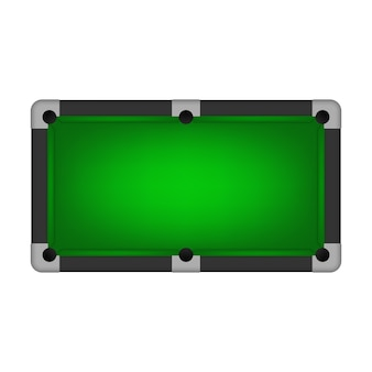Pool table isolated on white.