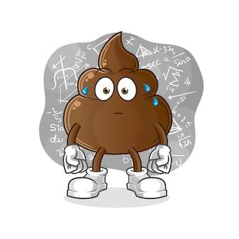 The poop thinking hard  . cartoon mascot cartoon mascot mascot