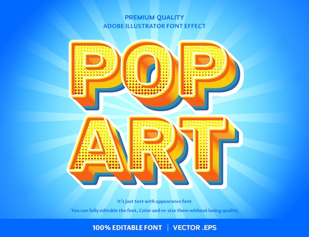 Pop art 3d  font effect