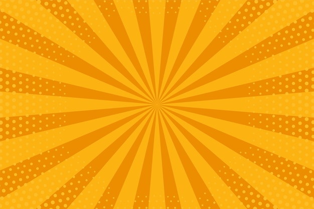 Pop art background. cartoon texture with halftone and sunburst. vector illustration.