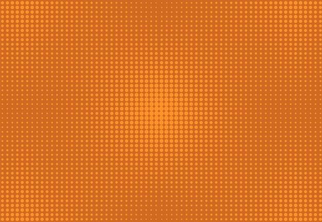 Фон поп-арт. комический полутоновый узор. оранжевая текстура. мультфильм ретро текстуры. градиентный дизайн вау
