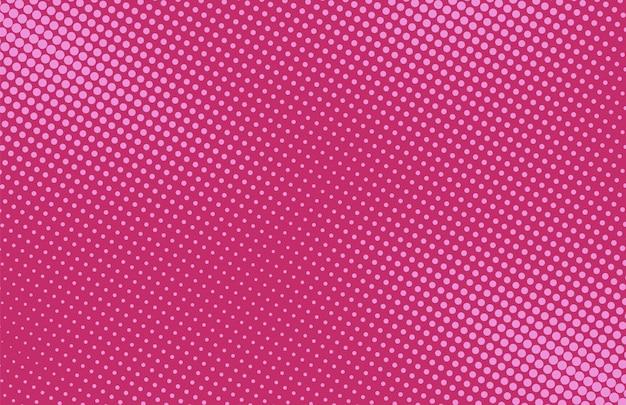 ポップアートの背景。コミックハーフトーンパターン。ドットとピンクの漫画のバナー。ヴィンテージデュオトーンテクスチャ