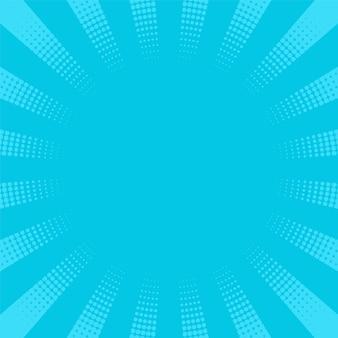 팝 아트 배경입니다. 하프톤 starburst와 만화 패턴입니다. 점이 있는 만화 복고풍 햇살 효과