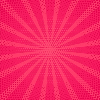 Pop art background. comic pattern with starburst and halftone. vector illustration.