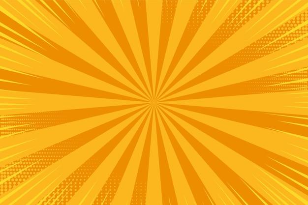 Фон поп-арт. комикс звездообразование и полутонов. мультяшный ретро эффект солнечных лучей.