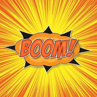 Pop art bomb boom