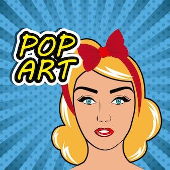 Pop art cartoon graphics