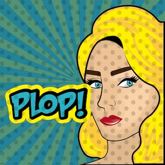 Pop art cartoon graphics