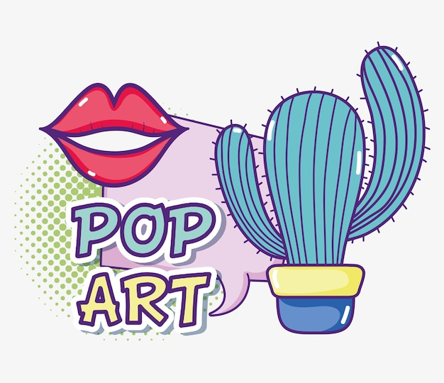 Pop art cartoons collection