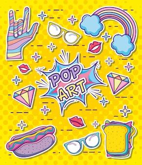 Pop art cartoons vector illustration graphic design