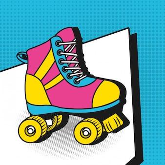 Pop art colorful cartoons