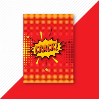 Pop art colorful comic brochure template design