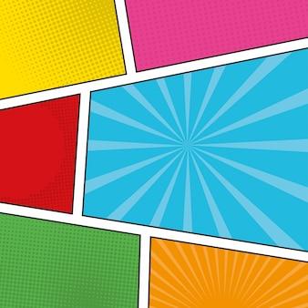 Pop art colorful frames
