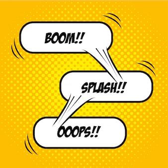 Pop art comic bubbles design