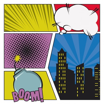 Pop art and comic cartoons