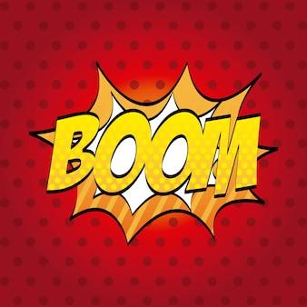 Pop art design over red background vector illustration