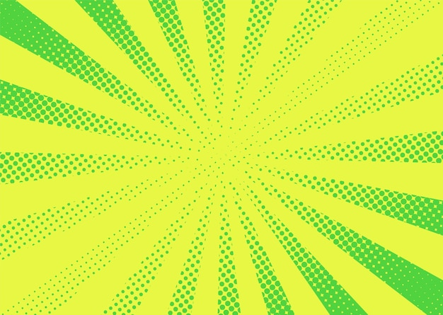 Pop art halftone background. comic cartoon retro sunburst effect. Premium Vector