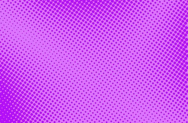 ポップアートのハーフトーンの背景。コミックパターン。紫のプリント。漫画のレトロなテクスチャ。ベクトルイラスト