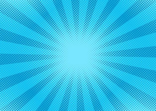 ドットと光線でポップアートのハーフトーン。図。ヴィンテージグラデーションすごいデザイン。